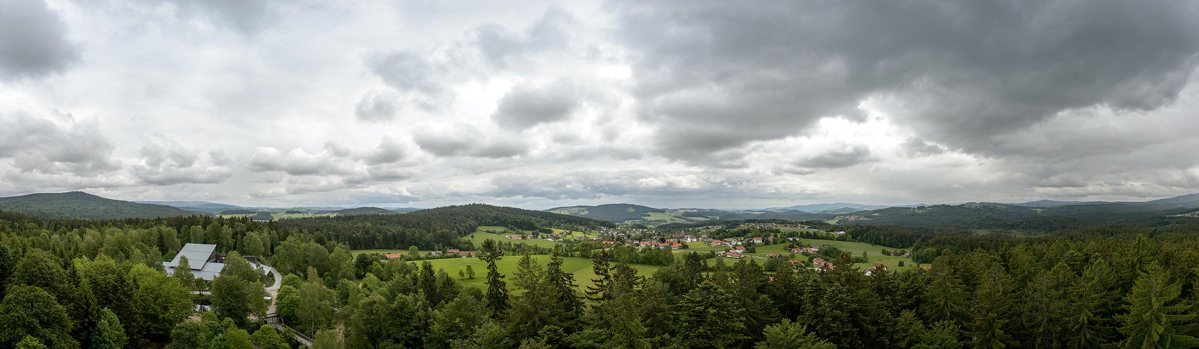 Panoramaufnahme im Bayerischen Wald