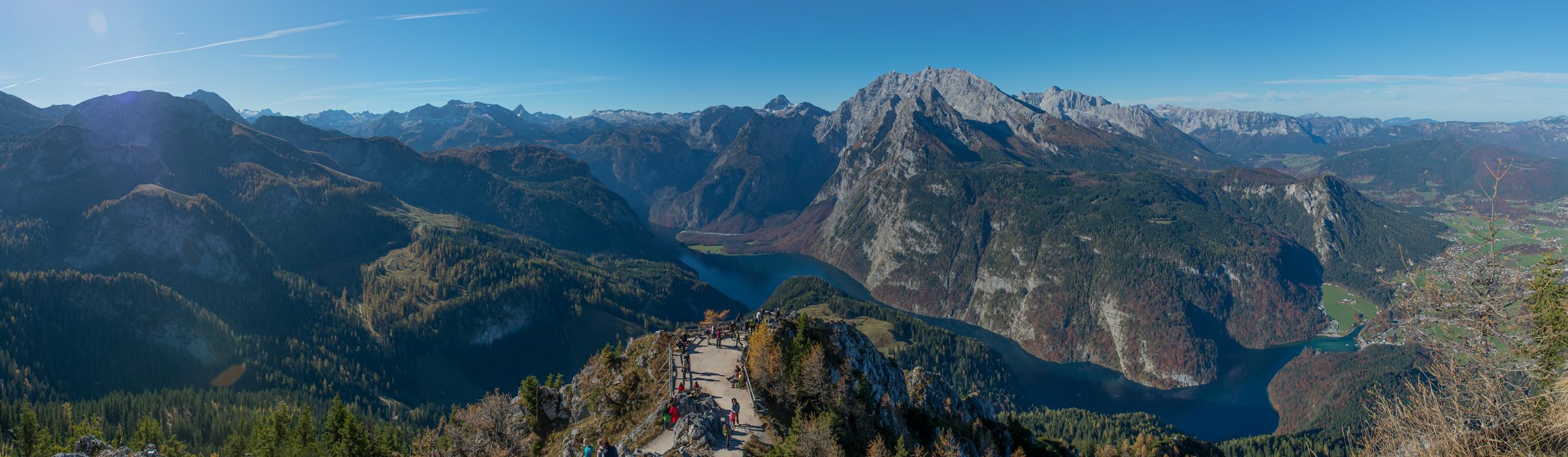 Panoramaufnahme der Landschaft in Berchtesgaden