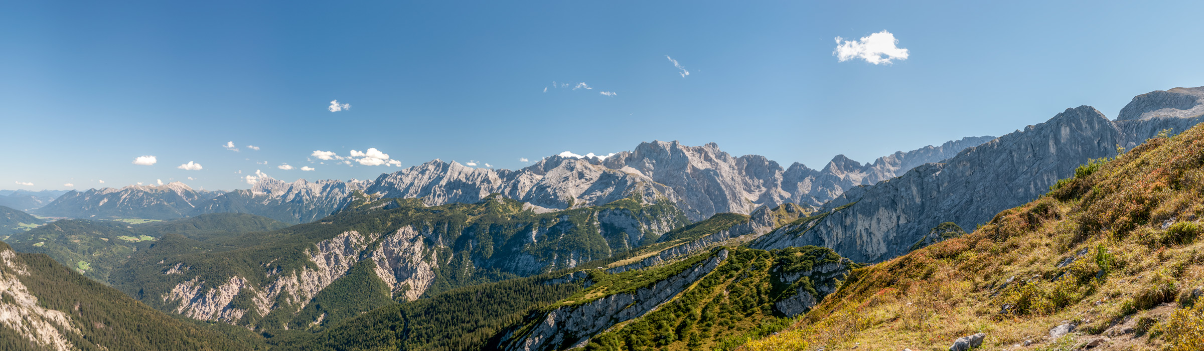 atemberaubendes Gipfelpanorama in Garmisch