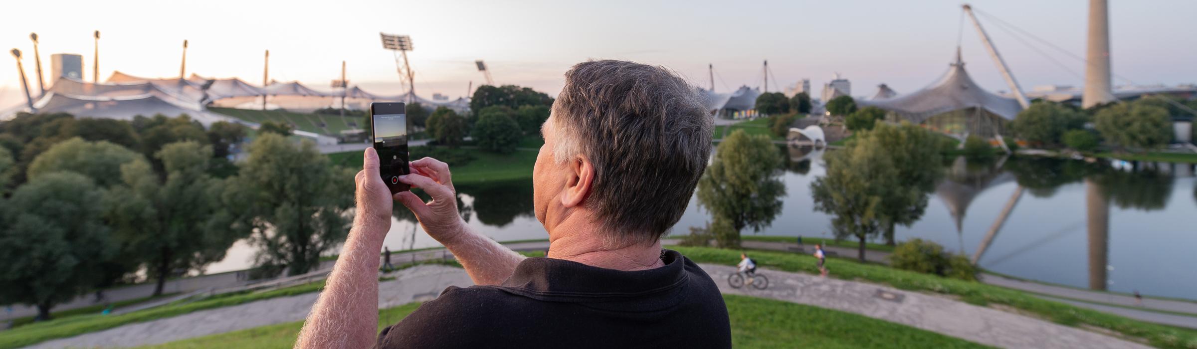 Handyfotografie - Stadtwanderung Olympiapark