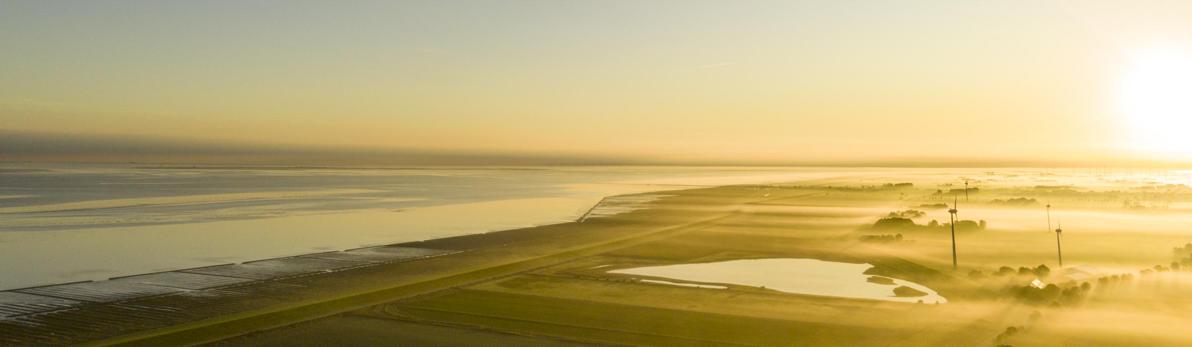 Drohnenaufnahme an der Nordseeküste