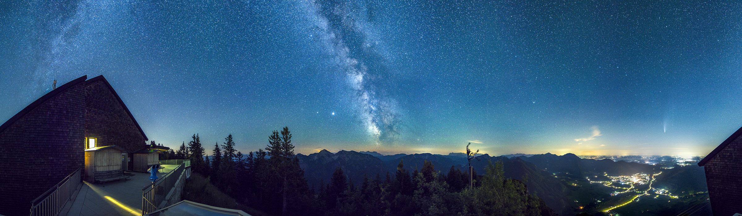 Milchstraße und Sternenhimmel über Ruhpolding